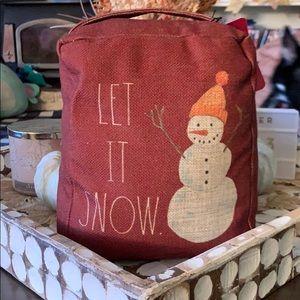 ✨NEW! Rae Dunn 'Let It Snow' Door Stop